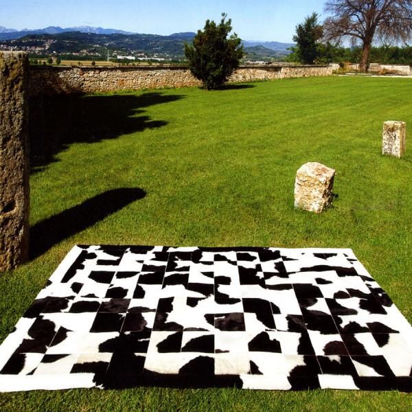 Tapis patchwork naturel constant bourgeois - Constant bourgeois peaux ...