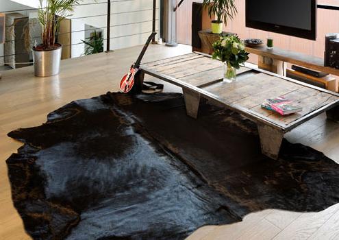 tapis en peau de vache naturelle et unie - Tapis Peau